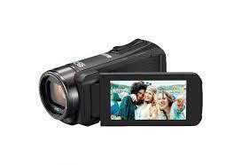 Zwarte JVC Everio R video camera