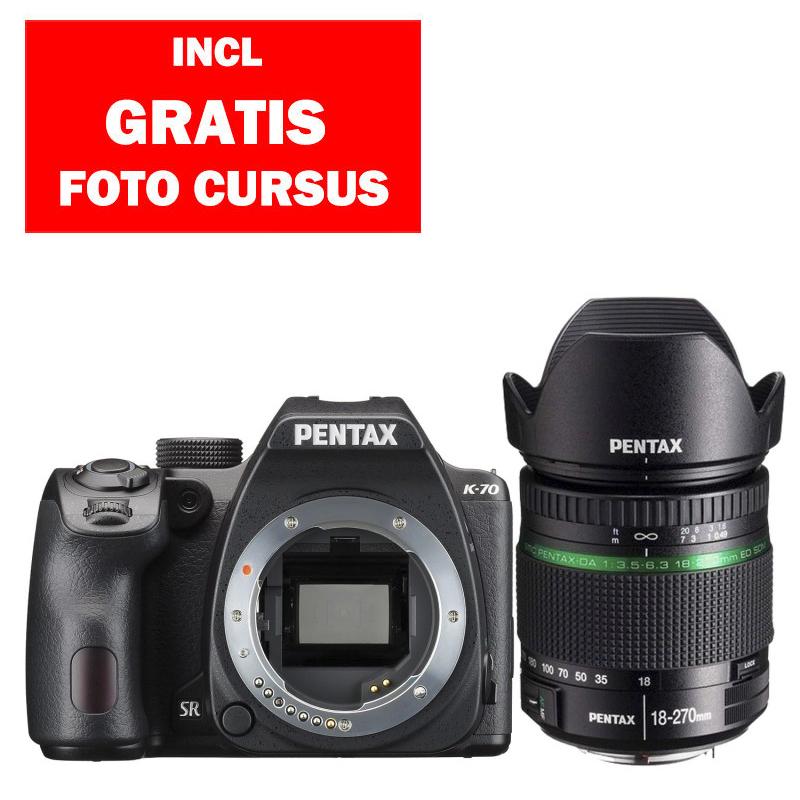 Pentax K-70 + 18-270mm