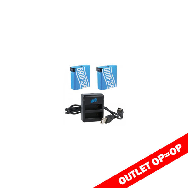 brofish dual battery charger kit for gopro hero 4