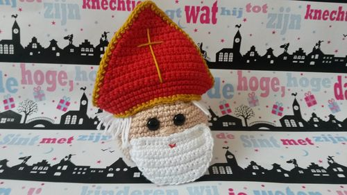 Haakpatroon cadeauzakje Sinterklaas en Zwarte Piet