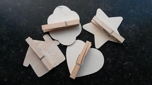 Mini krijtbordje met knijper huis