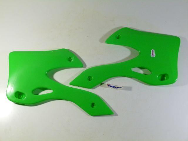 radiateur kappen set - radiator scoop set fluo green