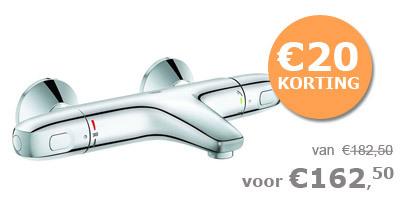 Grohe thermostatische badkraan 1000 New met s-koppelingen 15 cm