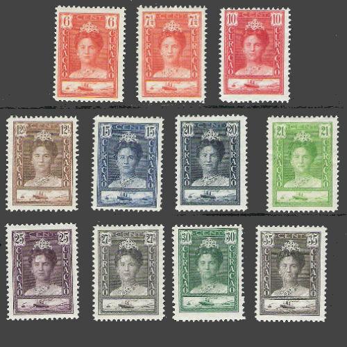 Curacao 1928-1930 Koningin Wilhelmina