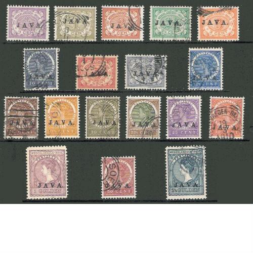 Nederlands Indië 1908 overdruk Java
