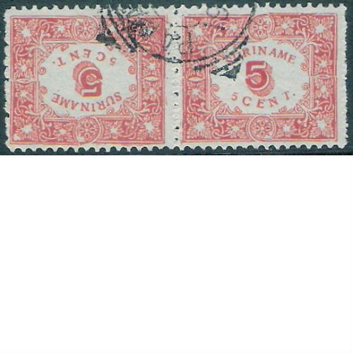 Suriname 1909 Hulpuitgifte keerdruk