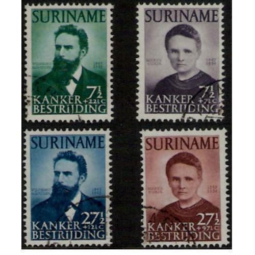 Suriname 1950 Curie en Röntgen