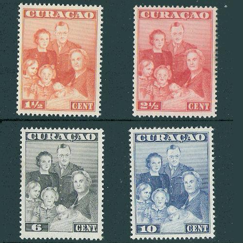 Curacao 1943 Koninklijke familie