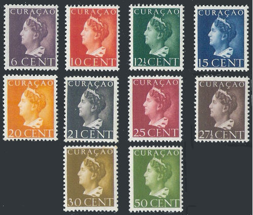 Curacao 1947 Koningin Wilhelmina