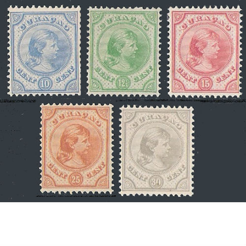 Curacao 1892-1895 Prinses Wilhelmina