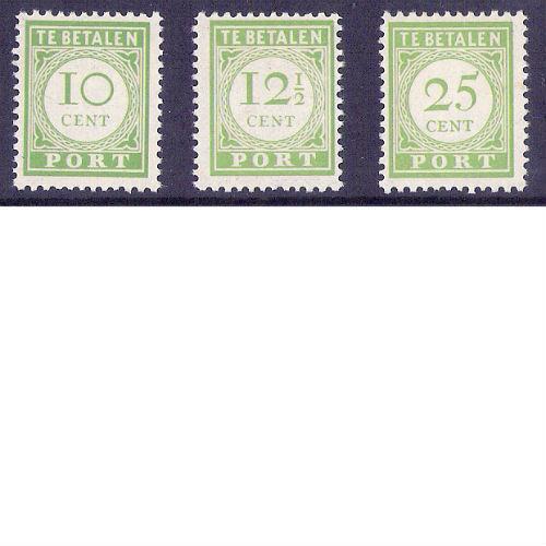 Curacao 1945 portzegels Engelse druk
