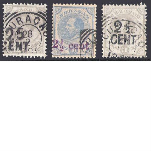 Curacao 1891 & 1895 hulpzegels