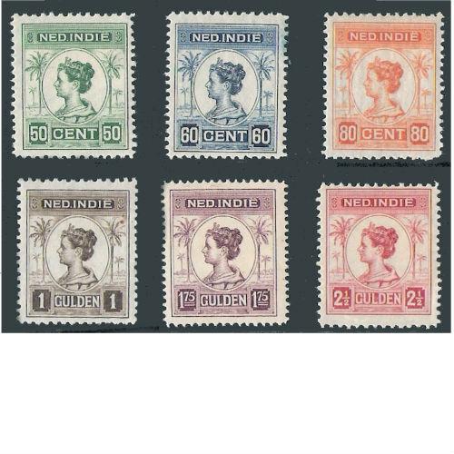 Nederlands Indië 1947 opdruk in zwart of rood
