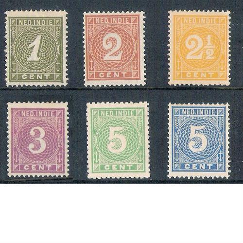 Nederlands Indië 1883-1890 cijferserie