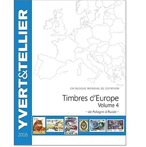Yvert en Tellier postzegelcatalogus EUROPA P-R 2016 deel 4