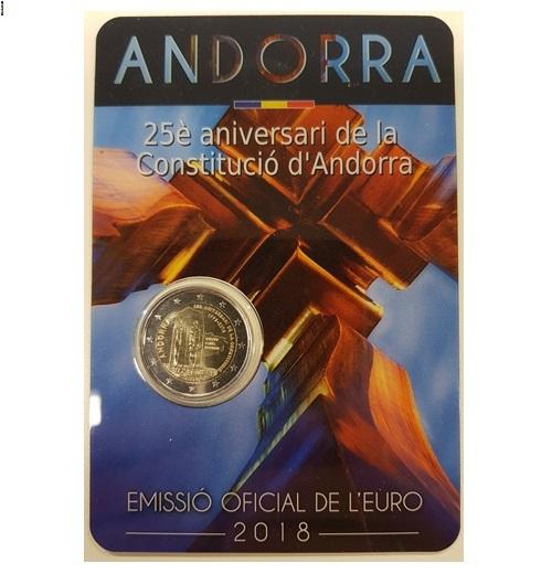 Andorra 2 Euro 2018 in coincard