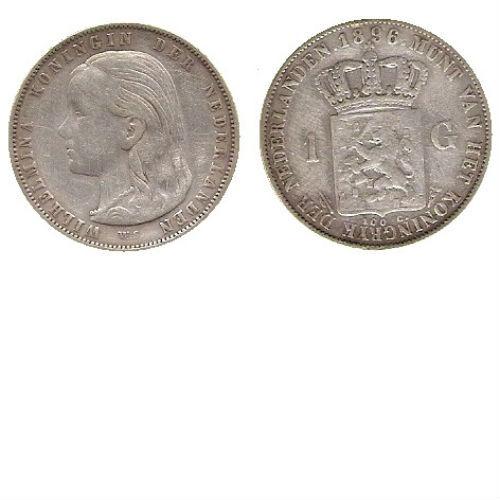 1 GULDEN 1896   Koningin Wilhelmina