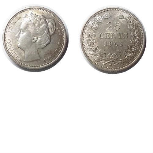 25 cent 1902  Koningin Wilhelmina