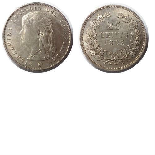 25 cent 1897  Koningin Wilhelmina