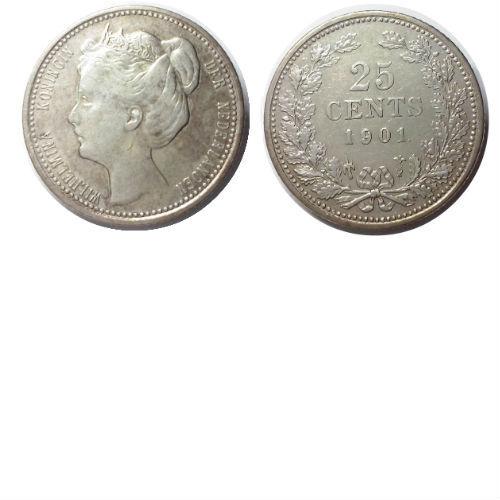 25 cent 1901 B  Koningin Wilhelmina