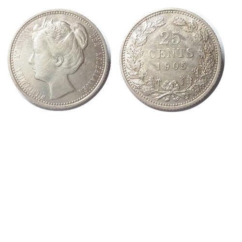 25 cent 1905  Koningin Wilhelmina
