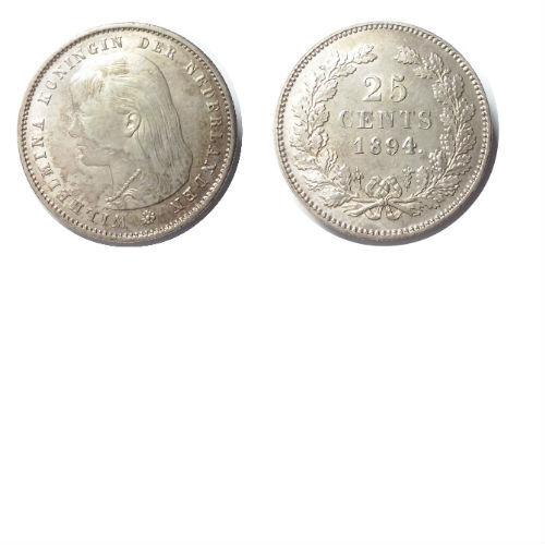 25 cent 1894   Koningin Wilhelmina