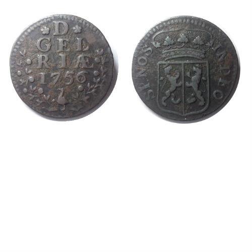 duit 1756  Gelderland