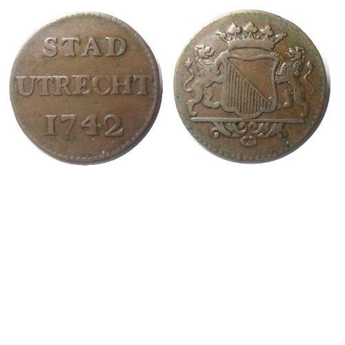 duit 1742/1739  Stad Utrecht