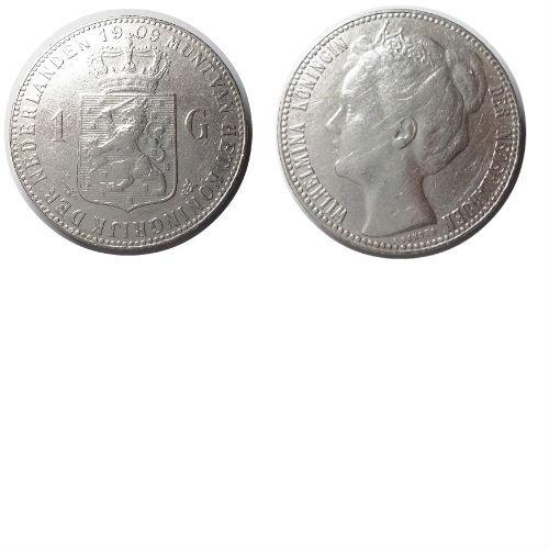 1 gulden 1909  Koningin Wilhelmina