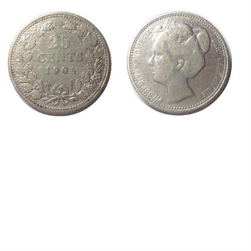 25 cent 1904  Koningin Wilhelmina