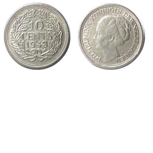10 cent 1943 PP  Koningin Wilhelmina