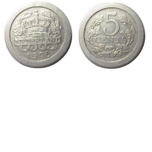 5 cent 1908 Koningin Wilhelmina
