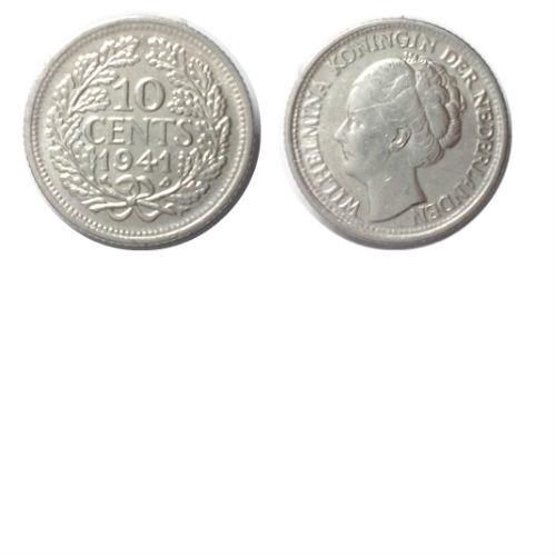 10 cent 1941 P Koningin Wilhelmina