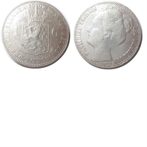 1 gulden 1908 Koningin Wilhelmina