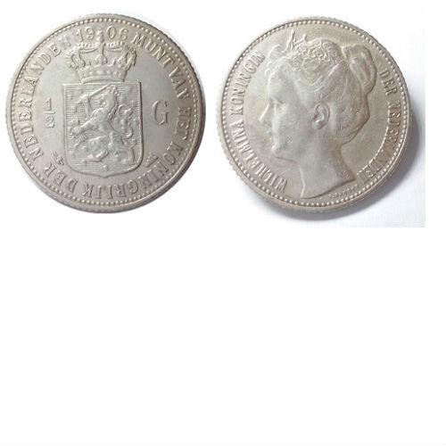 1/2 gulden 1906 Koningin Wilhelmina