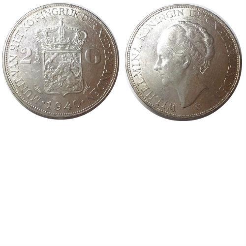 2 1/2 gulden 1940 Koningin Wilhelmina