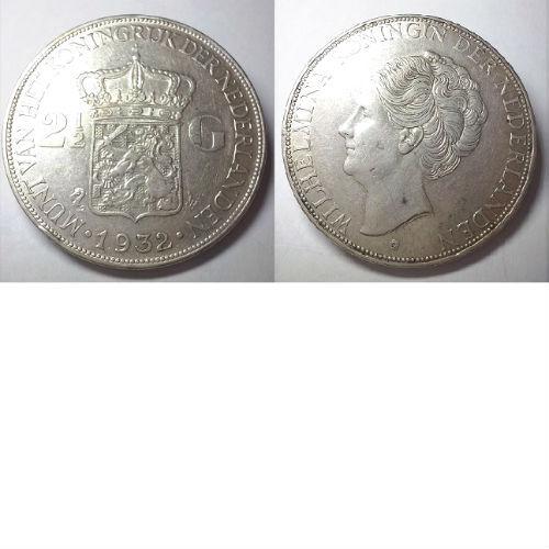 2 1/2 gulden 1932 b Koningin Wilhelmina