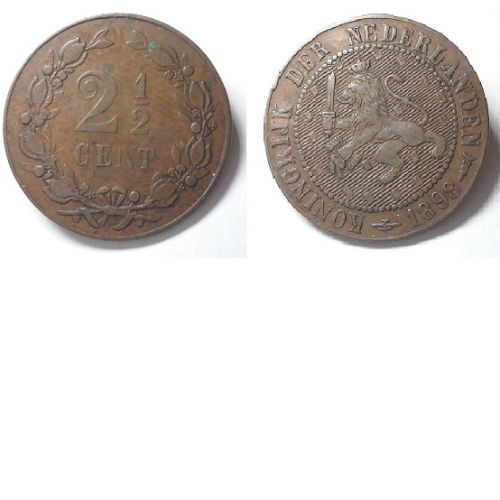 2 1/2 cent 1898 Koningin Wilhelmina