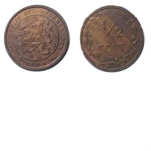 1/2 cent 1906 Koningin Wilhelmina