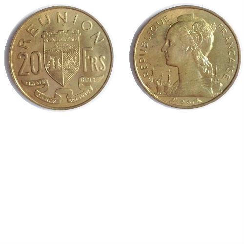 Reunion 20 francs 1961