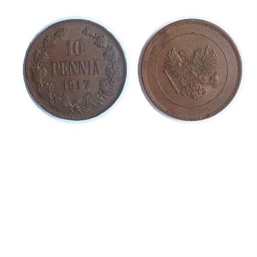 Finland 10 pennia 1917