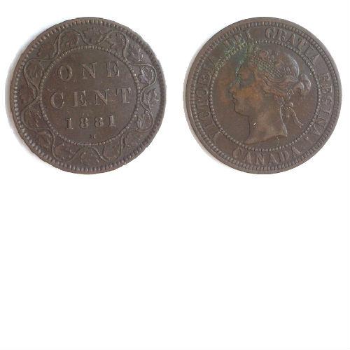 Canada 1 cent 1881 H