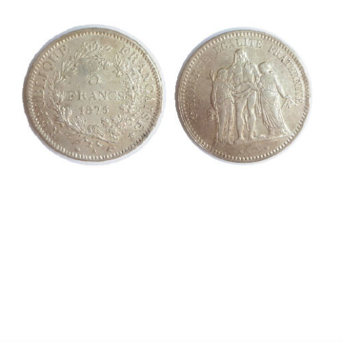 Frankrijk 5 francs 1875 A