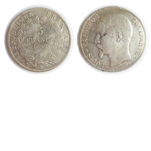 Frankrijk 5 francs 1852 A