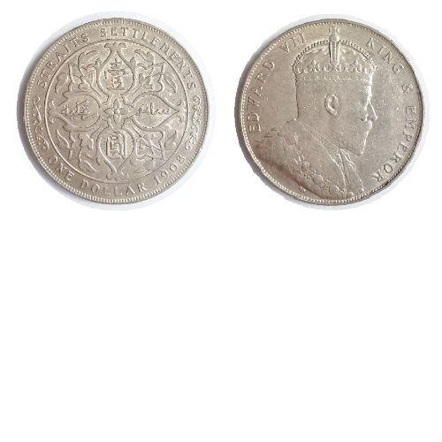 Straits Settlements 1 dollar 1908