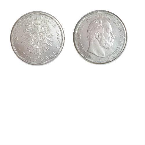 Pruissen 5 mark 1874