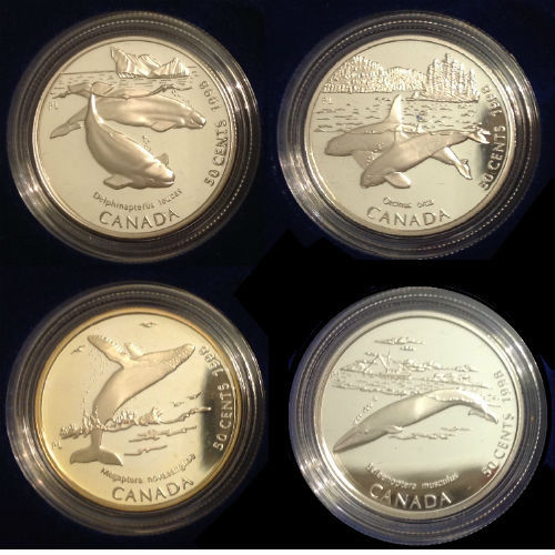 Canada 1998 Giganten van de oceaan Sterling Silver Proof