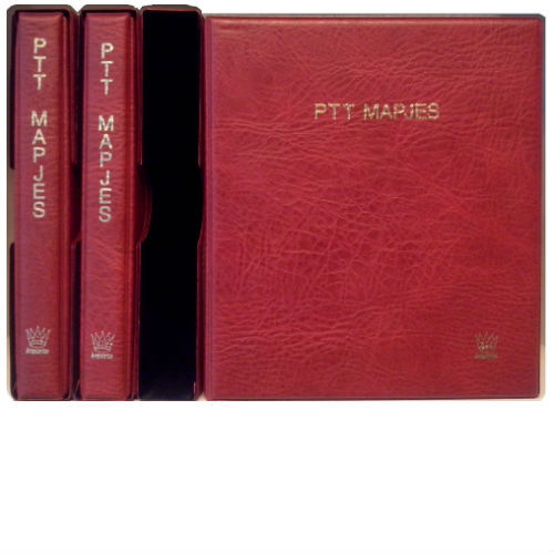 Importa 3 stuks PTT mapjes albums rood