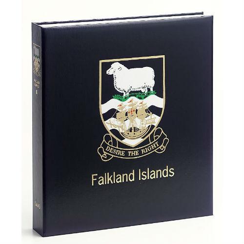 Davo Falkland eilanden  luxe postzegelalbum met cassette deel III