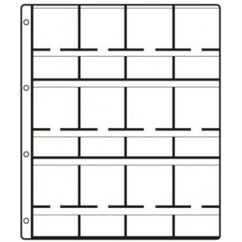 Hartberger aanvullingsbladen GM 12 voor munten - 12 vakken met separate tekstvakken